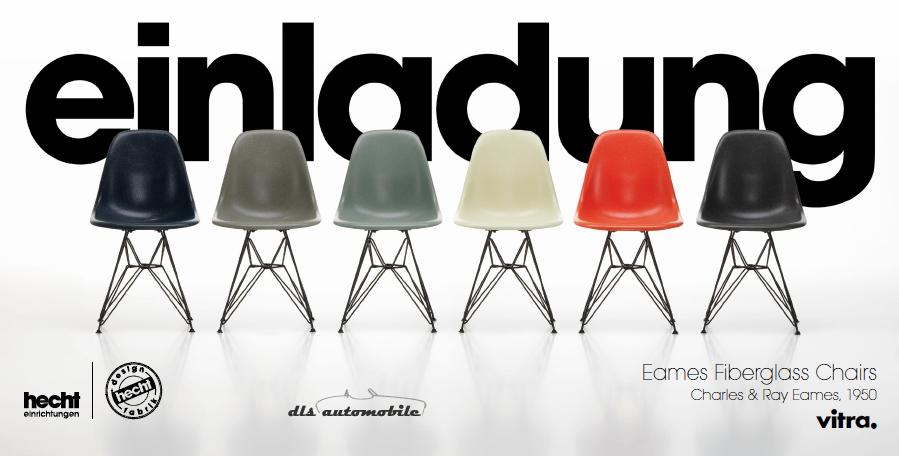 Rückblick Eames Fiberglass Chair Premiere in der hecht designfabrik