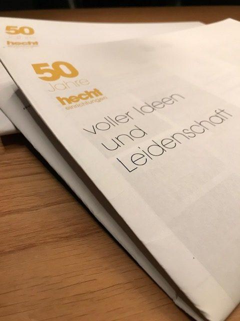 50 Jahre hecht Jubiläumszeitung